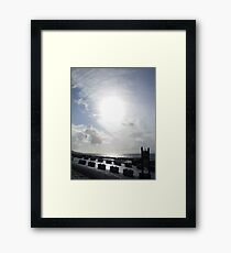 Cloudy sun in Kerry. Framed Print