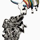 COW eating a dress T by kipishiux