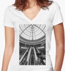 Canary Wharf Shopping Women's Fitted V-Neck T-Shirt
