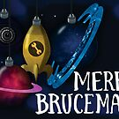 Merry Brucemas Card by BattleBird