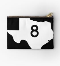 Texas Farm-to-Market Road FM 8 | United States Highway Shield Sign Studio Pouch
