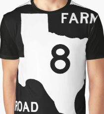 Texas Farm-to-Market Road FM 8 | United States Highway Shield Sign Graphic T-Shirt
