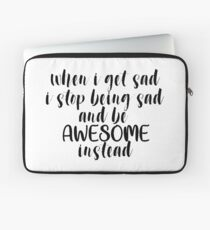Be Awesome Instead Laptop Sleeve