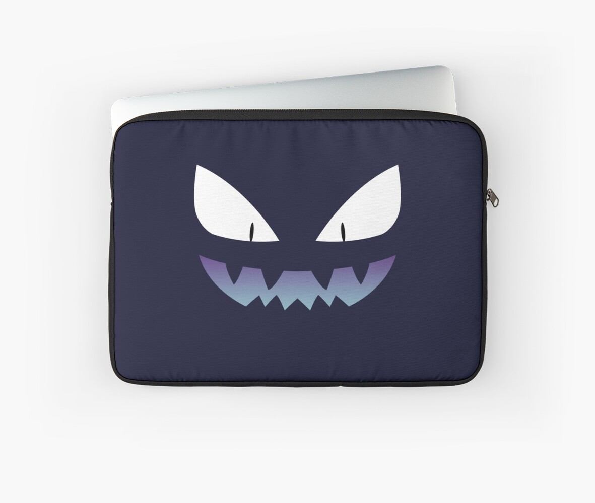 Pokemon Haunter Ghost Shiny Laptop Sleeves By Zefiru Redbubble