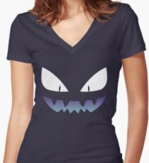 Pokemon - Haunter / Ghost (Shiny) Women's Fitted V-Neck T-Shirt