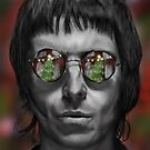 Liam Gallagher Christmas Drawing by Russ Johnson