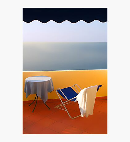 Balcony with a view. Morning Photographic Print