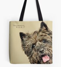 Curious and Cute Cairn Terrier Tote Bag
