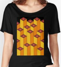 Blocks (black background) Women's Relaxed Fit T-Shirt