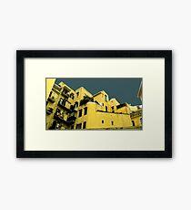 Italian houses Framed Print