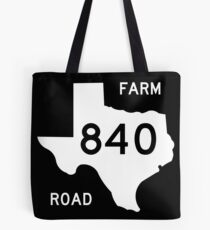 Texas Farm-to-Market Road FM 840 | United States Highway Shield Sign Tote Bag