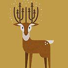 Christmas Deer by psygon