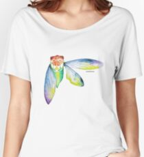 Cicada watercolour Women's Relaxed Fit T-Shirt