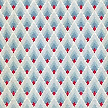 Art deco blue grey by love999