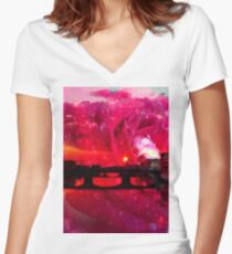 Through Rose Coloured Glasses Women's Fitted V-Neck T-Shirt