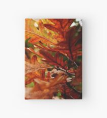 Oak Leaves In Autumn Hardcover Journal