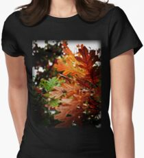 Oak Leaves In Autumn Women's Fitted T-Shirt