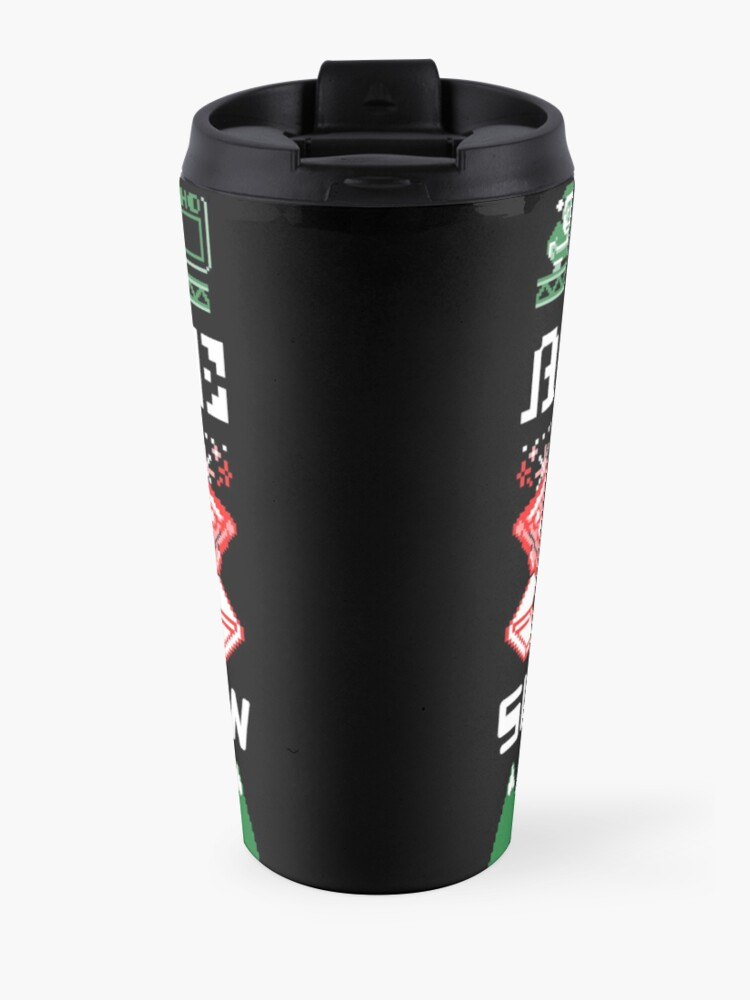 Alternate view of Pizza Christmas Sweater Travel Mug