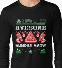 Pizza Christmas Sweater Long Sleeve T-Shirt