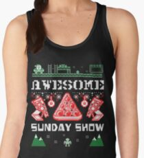 Pizza Christmas Sweater Women's Tank Top