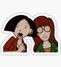 daria and jane Sticker