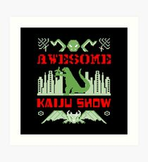 Awesome Kaiju Show Art Print