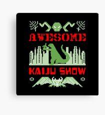 Awesome Kaiju Show Canvas Print