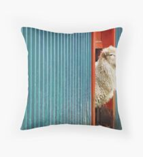 A Sheep Named DJ Throw Pillow
