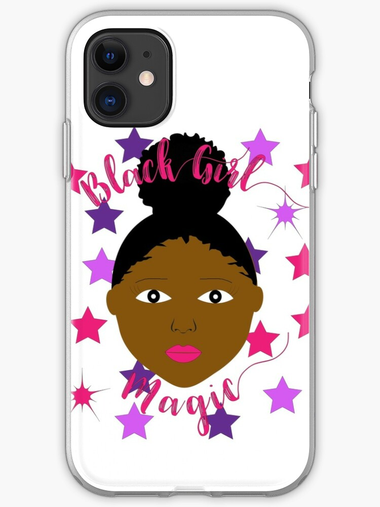 Fine Black Girl Magic Afro Puff Little Girl Iphone Case Cover By Natural Hairstyles Runnerswayorg