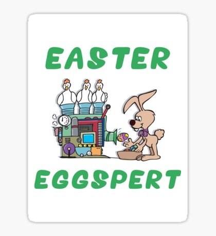 "Happy Easter ""Easter Eggspert"" Sticker"