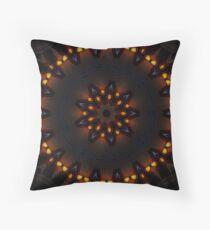 Dark Orange Mysterious Mandala Throw Pillow