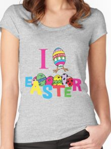 """Easter """"I Love Easter"""" Women's Fitted Scoop T-Shirt"""