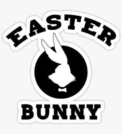 Funny Easter Bunny Women's Sticker