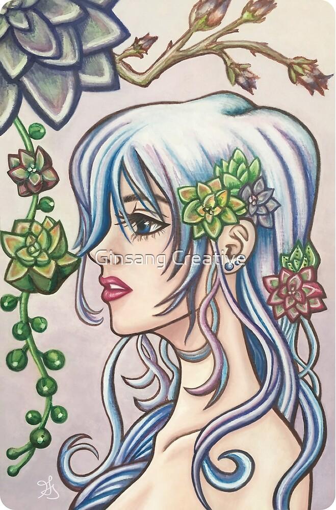 Succulent Mermaid by Ginsang Creative
