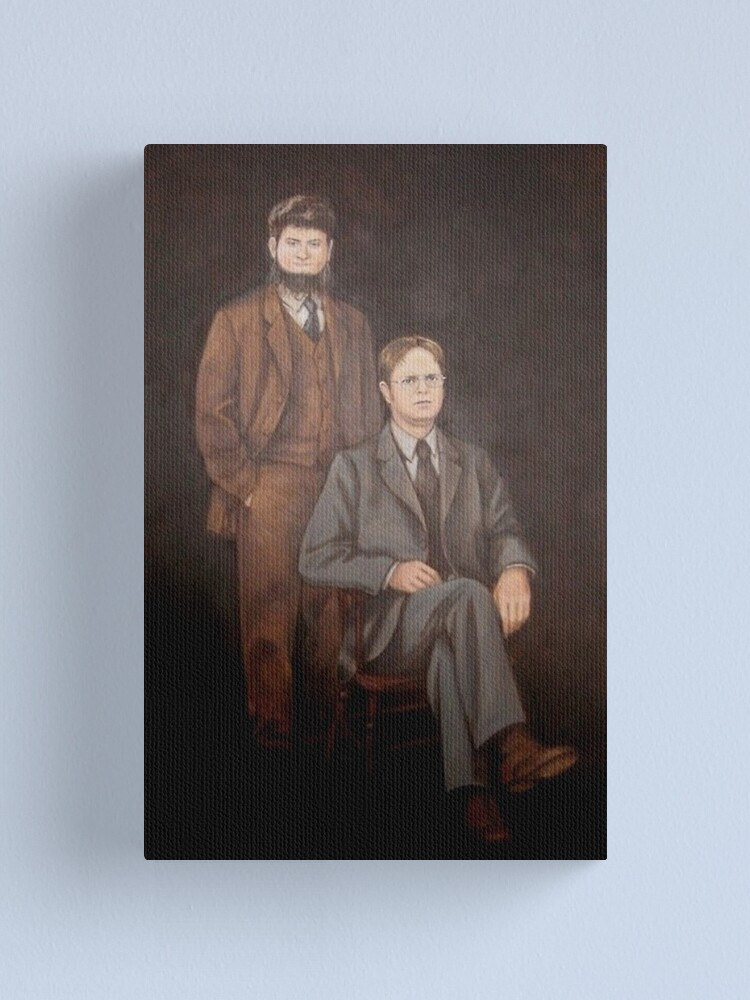 Alternate view of Dwight And Mose Painting  Canvas Print