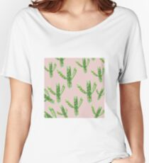 Cactus Background Women's Relaxed Fit T-Shirt