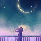 Anime-Landschaftsmädchengehen von LunarAphelion