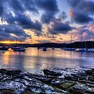 Darkness Falls - Paradise Beach , Sydney - The HDR Experience by Philip Johnson