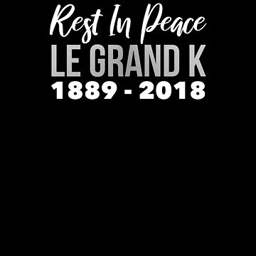 Le Grand K Rest In Peace Kilogram Redefined 2018 Physics T-shirt by ravishdesigns