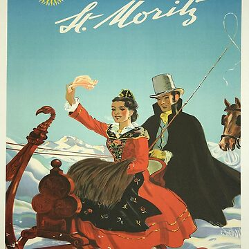 Vintage poster - St. Moritz, Switzerland by mosfunky