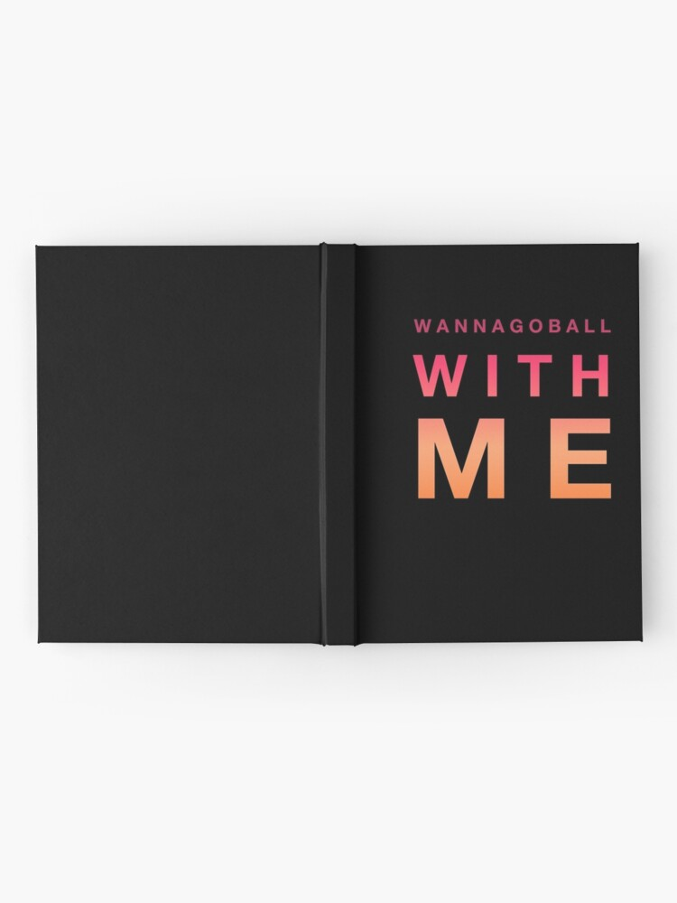 Alternate view of Prom Proposal Gift - Wannagoball With Me - Promposal - School Dance Hardcover Journal