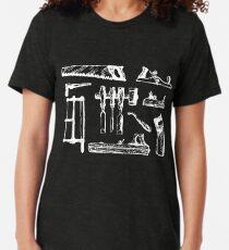 Vintage Woodworking Tools Tri-blend T-Shirt