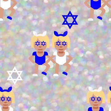 bunny ears hanukkah emoji by gossiprag