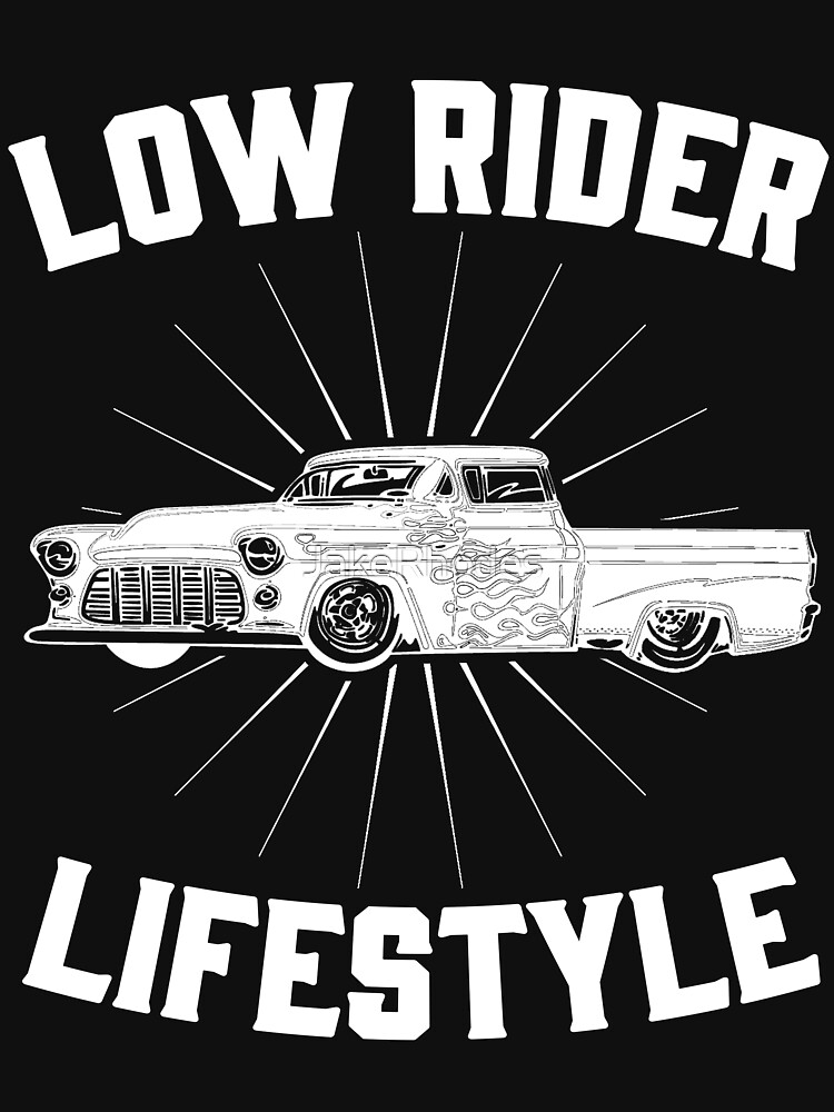 Low Rider Freestyle Retro Vintage Distressed Design by JakeRhodes