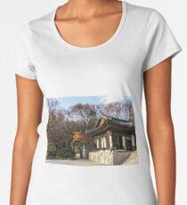 Gilsangsa temple during autumn Women's Premium T-Shirt