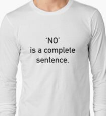 No Long Sleeve T-Shirt