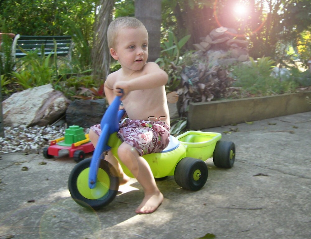 My Nephew - Notice the Lens Flare? :P by S S