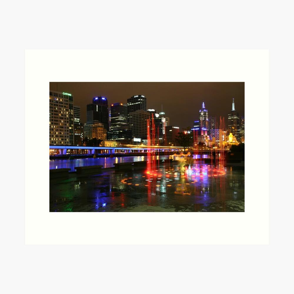 Casino Lights, Melbourne, Victoria, Australia Art Print