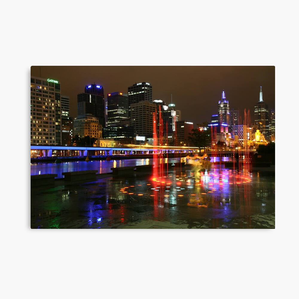 Casino Lights, Melbourne, Victoria, Australia Canvas Print