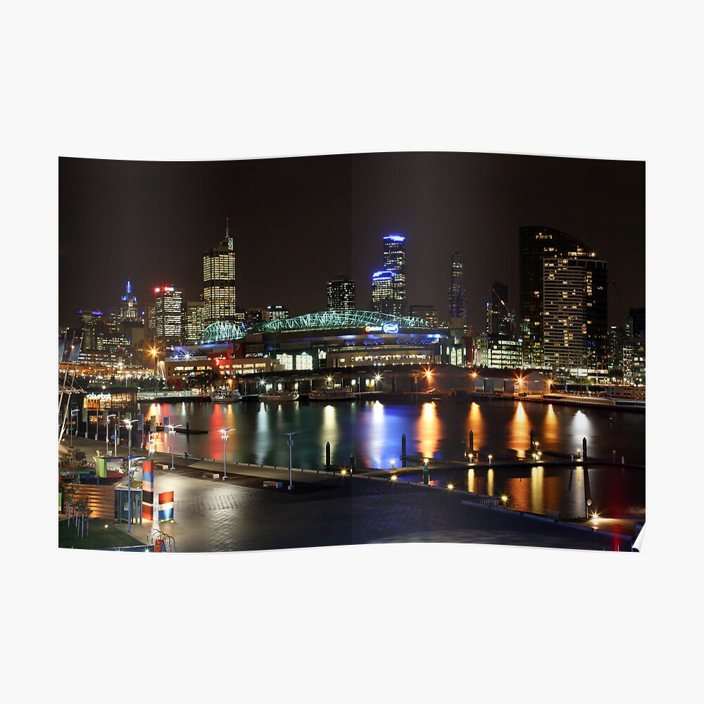 Docklands By Night, Melbourne, Australia Poster